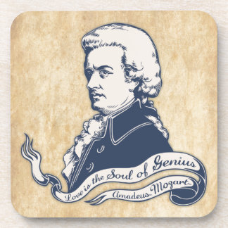 Love = Genius -Mozart Coaster