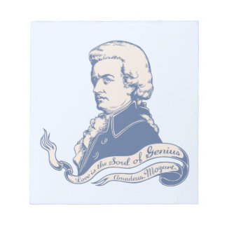 Love = Genius -Mozart Notepad