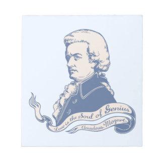 Love = Genius -Mozart Notepads