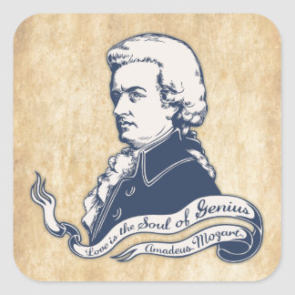 Love = Genius -Mozart Square Sticker