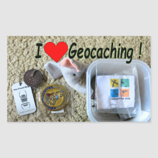 Love geocaching sticker