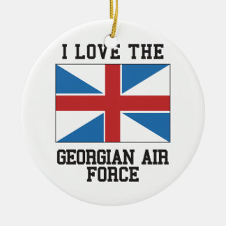 Love Georgian Air Force Ceramic Ornament