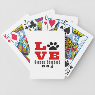 Love German Shepherd Dog Designes Poker Deck