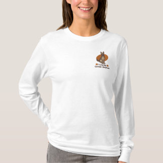 Love German Shepherd Embroidered Long Sleeve T-Shirt