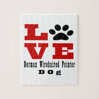Love German Wirehaired Pointer Dog Designes Jigsaw Puzzle