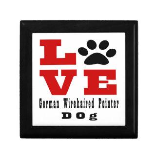Love German Wirehaired Pointer Dog Designes Keepsake Box