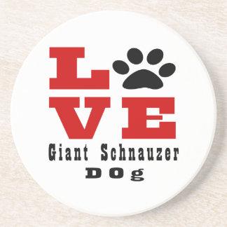 Love Giant Schnauzer Dog Designes Drink Coaster