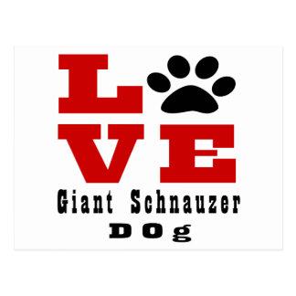Love Giant Schnauzer Dog Designes Postcard