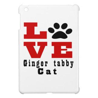 Love Ginger tabby Cat Designes iPad Mini Covers