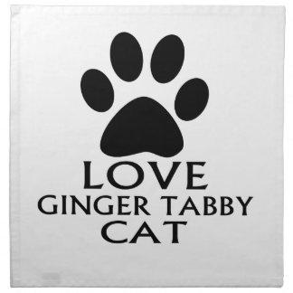 LOVE GINGER TABBY CAT DESIGNS NAPKIN