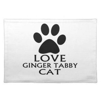 LOVE GINGER TABBY CAT DESIGNS PLACEMAT