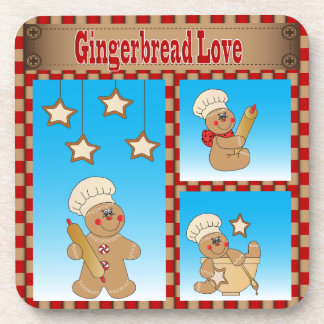 Love Gingerbread Man Bakers Coasters