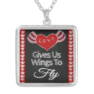 Love Gives Us Wings Necklace