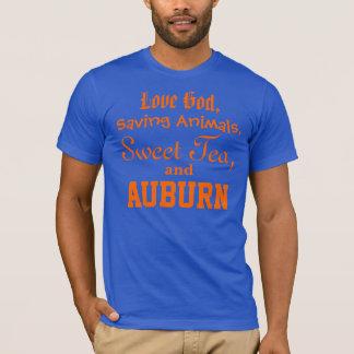 Love God, Saving Animals, Sweet Tea and Auburn T-Shirt