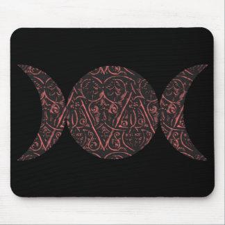 Love Goddess black background mousepad