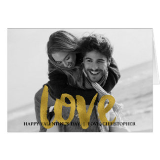 Love Gold Foil Valentine's Day Photo Card