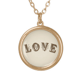Love Gold Plated Necklace