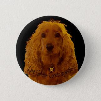 Love golden cocker spaniels badge 2 inch round button