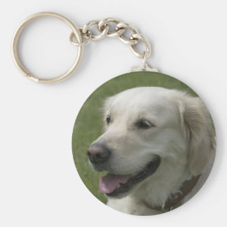 Love Golden Retriever Puppy Dog Keychain
