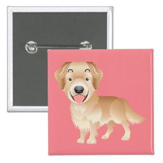 Love Golden Retriever Puppy Dog Pink Pin