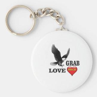 love grab fowl basic round button keychain