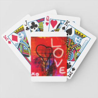 Love Graffiti Bicycle Playing Cards