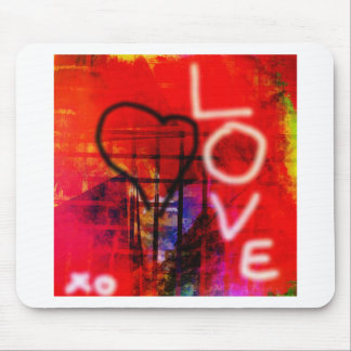 Love Graffiti Mouse Pad