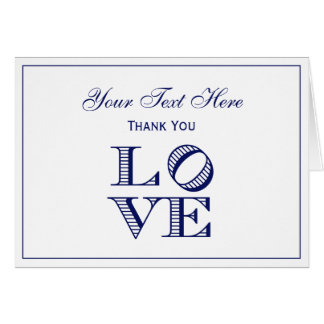 LOVE Graphic Text - Blue Card
