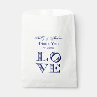 LOVE Graphic Text - Blue Favour Bag
