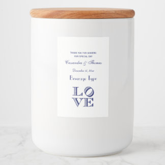 LOVE Graphic Text - Blue Food Label