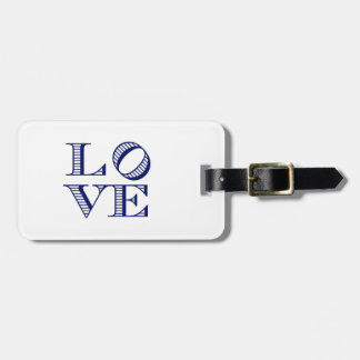 LOVE Graphic Text - Blue Luggage Tag