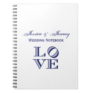 LOVE Graphic Text - Blue Notebook