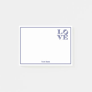 LOVE Graphic Text - Blue Post-it Notes