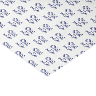 LOVE Graphic Text - Blue Tissue Paper