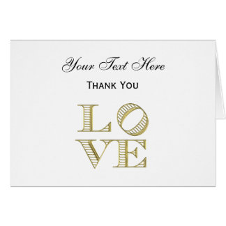 LOVE Graphic Text - Faux Gold Card