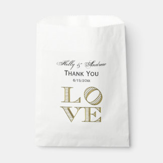 LOVE Graphic Text - Faux Gold Favour Bag