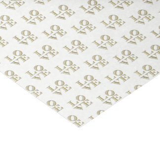 LOVE Graphic Text - Faux Gold Tissue Paper
