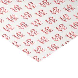 LOVE Graphic Text - Red Tissue Paper