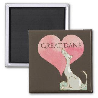 Love Great Dane Pink Heart Magnet