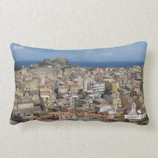 Love Greece Corfu cushio Lumbar Pillow