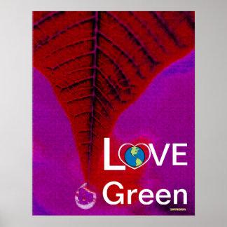 Love Green - Atumn Tear Drop Poster-Cust. Poster
