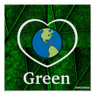 Love Green Poster-Customize Poster