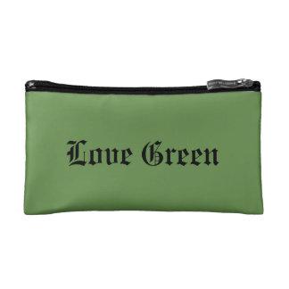 Love Green Small Cosmetic Bag