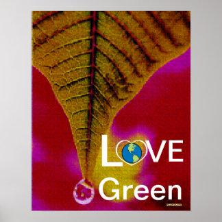Love Green - Summer Tear Drop Poster-Cust.