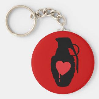 Love Grenade - Love is a Battlefield Basic Round Button Keychain