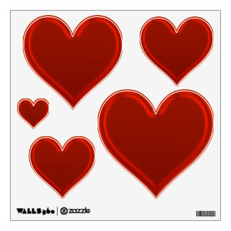 Love Group - Red Hearts Wall Sticker