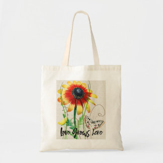 Love Grows Here Design Tote Bag