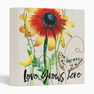 Love Grows Here Design Vinyl Binders