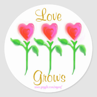 Love Grows sticker (with words)