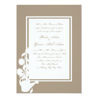 "Love Grows Watering Can Wedding 5.5"" X 7.5"" Invitation Card"
